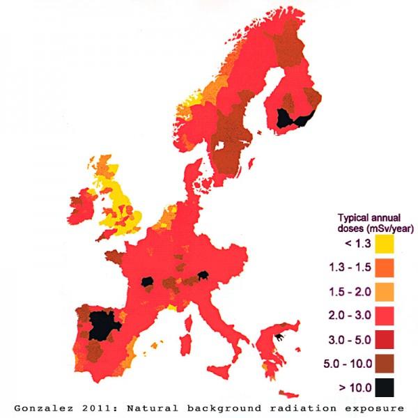 NaturalbackgroundradiationEurope